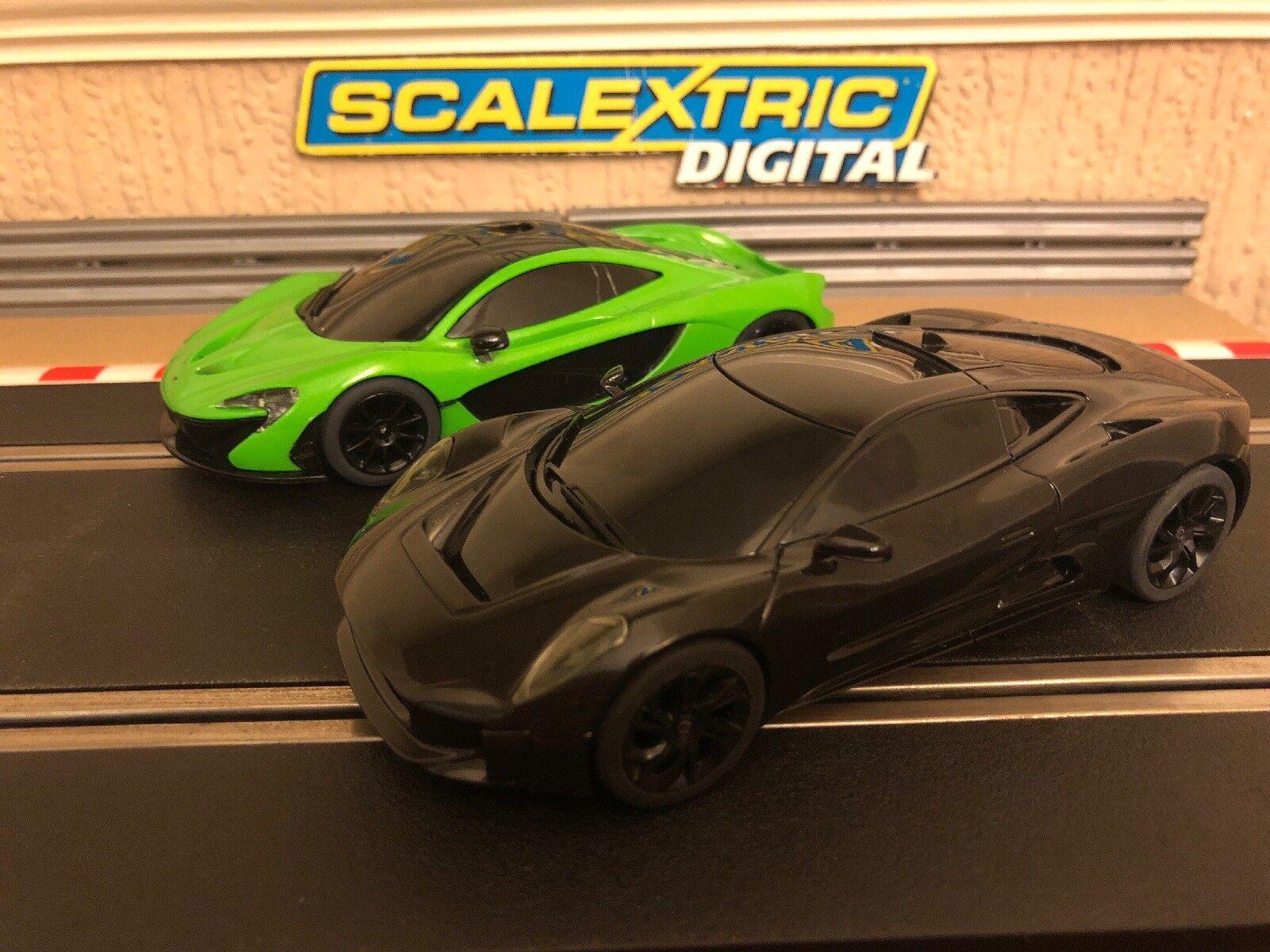 Scalextric Digital McLaren P1 & Jaguar C-X75 Brand New