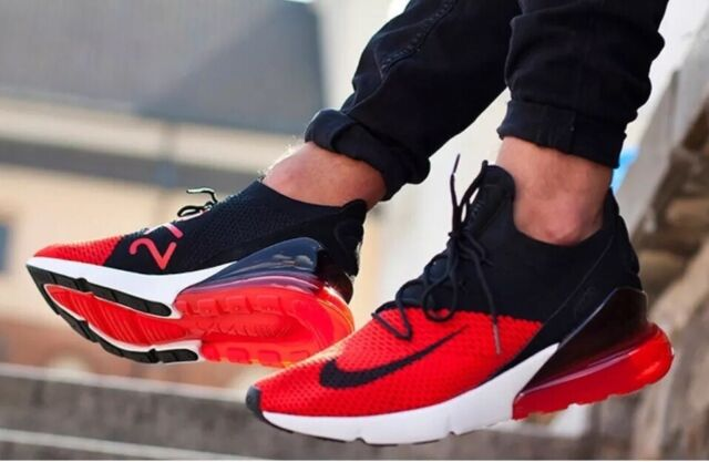 best service b7fb0 e6b01 Nike Mens 10.5 Air Max 270 Flyknit Chile Red Running Ao1023 601 Shoes