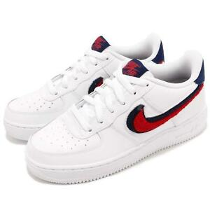 c9cdd21a4d65 Details about Nike Air Force 1 07 LV8 AF1 Chenille Swoosh White Men Women Kid  Shoes Pick 1