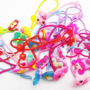 10pcs-Cartoon-Elastic-Hair-Rubber-Bands-Girls-Elastic-Hair-Ropes-Ponytail-Holder