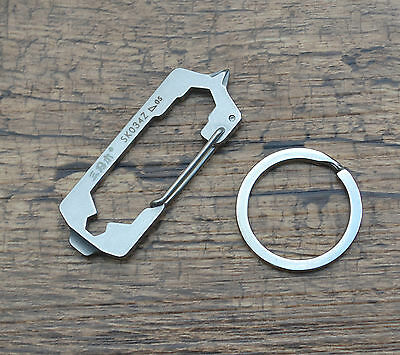Sanrenmu SK034Z EDC Multi Tool Toolkit Carabiner Bottle Opener w/ Key Ring