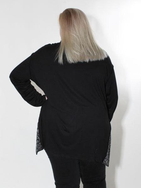 -10% Tunika Tunika Tunika A-Form von Doris Streich Gr. 46 schwarz grau zipflig Lagenlook | Große Auswahl  | Lassen Sie unsere Produkte in die Welt gehen  f66276