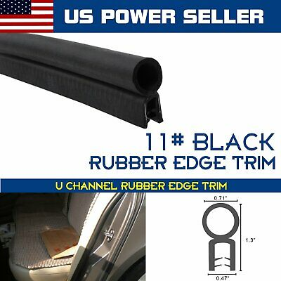 Trim Lok Rubber Seal Edge Strip Car Automotive Door Trunk Guard w//Bulb By Yard