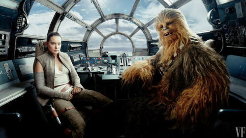 Rey Chewbacca Star Wars The Last Jedi Silk Poster Wallpaper 24 X 13 Inch Art Posters Art Roomburgh Nl