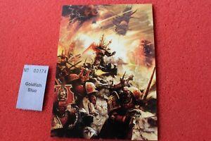 Games Workshop Warhammer 40k Chaos Space Marines Art Card Khorne Word Bearers Gw Ebay