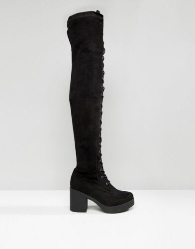 la au du noires en dessus genou de collection Truffle synthᄄᆭtisᄄᆭes daim Bottes qMVGpzLUS