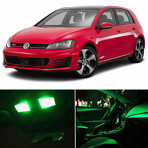 Details About 9x Green Interior Led Lights Package Kit For 2015 2016 Volkswagen Golf Gti Mk7