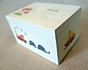 Collectable-Dolls-House-Accessories-Decorative-Painted-Wooden-Toy-Box-Chest