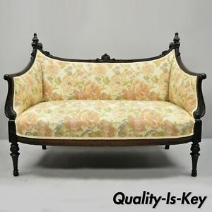 Prime Details About Small Antique French Louis Xvi Carved Mahogany Victorian Loveseat Settee Sofa Ibusinesslaw Wood Chair Design Ideas Ibusinesslaworg