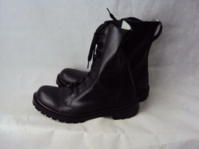 NEW Lightweight Military Cadet's Black Leather Boots UK 5-13