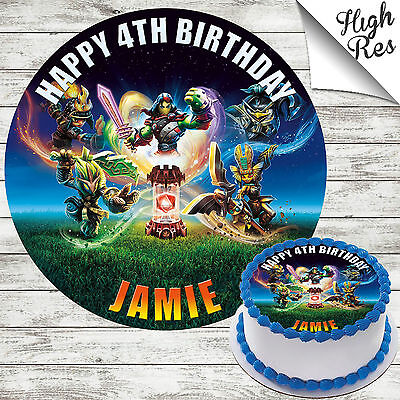 Peachy Skylander Imaginators Edible Round Birthday Cake Topper Decoration Funny Birthday Cards Online Inifofree Goldxyz
