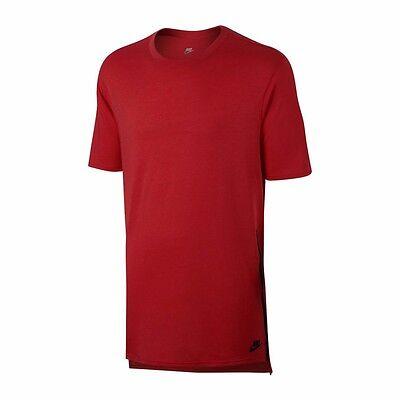 847507 Nike Sportswear NSW Droptail Bonded Mesh Black White Grey T-Shirt Men's