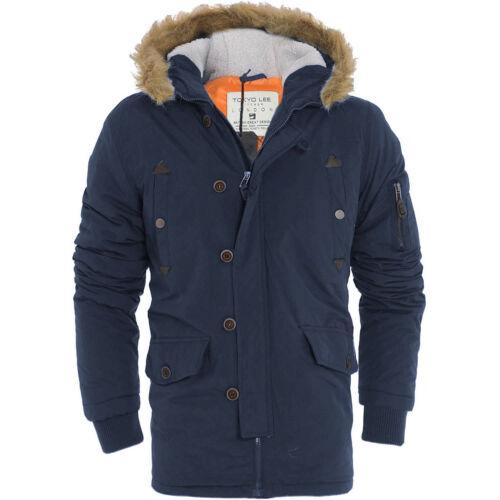 Brave Soul Mens Fur Hood Parka Padded Winter Coat Jacket