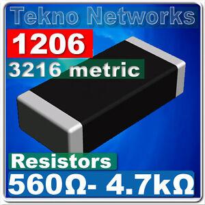 1000PCS 3K ohm 302 5/% 1//4W 1206 3.2mm×1.6mm SMD Chip Resistor