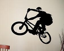 Extreme Sports BMX Vinyl Sticker Wall Decal Silhouette Art Boys Room Decor 5bizz