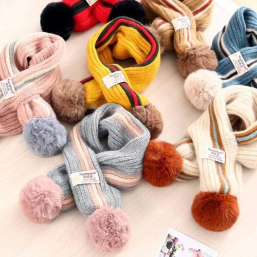 Fashion 62x11cm 5Colors Children Kids Wool Christmas Winter Keep Warm Scarf