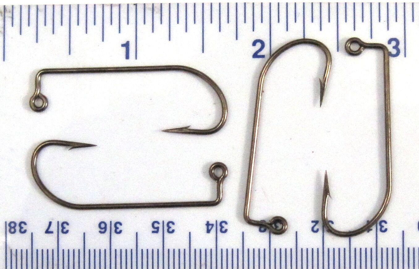 1000 VMC 9131 9131BZ Bronze 90 Degree Bend Jig Fish Fishing Hooks Size 1