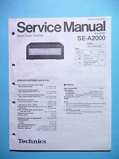Service Manual Technics SE-A2000  Amplifier,ORIGINAL