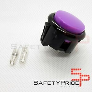 Pulsador-Arcade-30mm-Morado-Violeta-faston-Jamma-Push-button-Bartop-Raspberry-SP