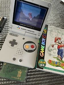 Nintendo Game Boy Advance SP White/Red Famicom Limited Edition AGS-001 w/Charger
