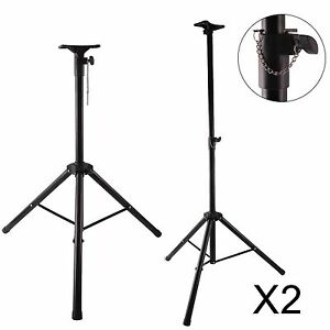 2X-PA-Speaker-Stands-Kit-Metal-Tripod-Adjustable-Height-Strong-Locking-DJ-Disco