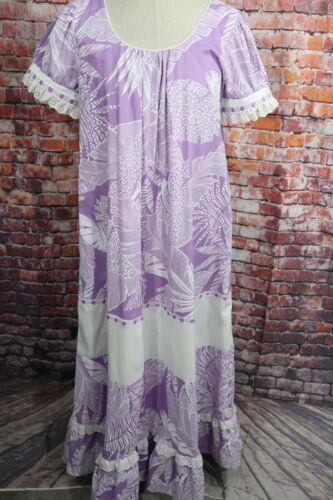 Vtg 60s 70s Hilda Hawaii Light Purple MuuMuu Hawai