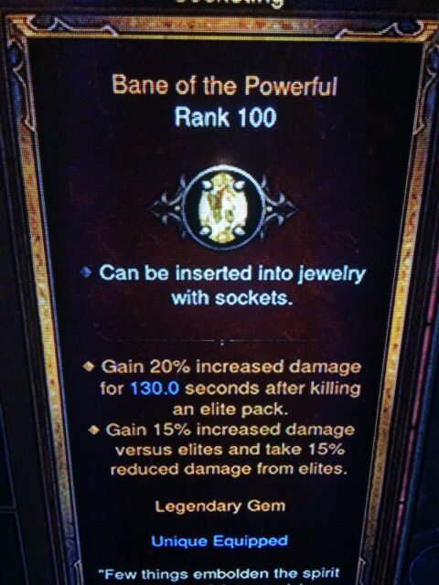 DIABLO 3 PATCH 2.6 FULL SET OF GENUINE LEGENDARY GEMS RANK 100 XBOX ONE SOFTCORE