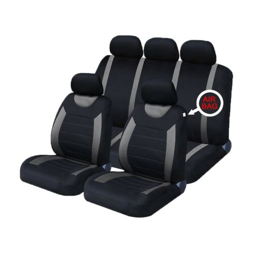 Grey//Black Universal Car Sports Seat Covers Nissan Micra C 2005-2010