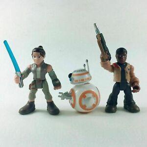 Playskool Star Wars 2.5/'/' Rey Jakku With Gun Galactic Heroes Figure Kids Toys
