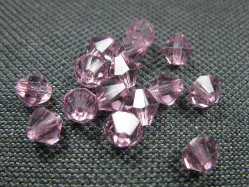 15 cristal esmerilado perlas doppelkegel 6mm amatista 7805