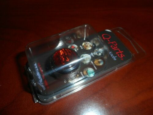 NEW KCD-0011 RED ABALONE ON CHROME Q-Parts Dome Knob