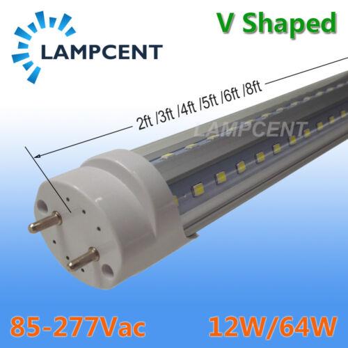 2FT 3FT 4FT 5FT 6FT G13 T8 Double V-shaped LED Tube Bulb Shop Lights 2-25 Pack