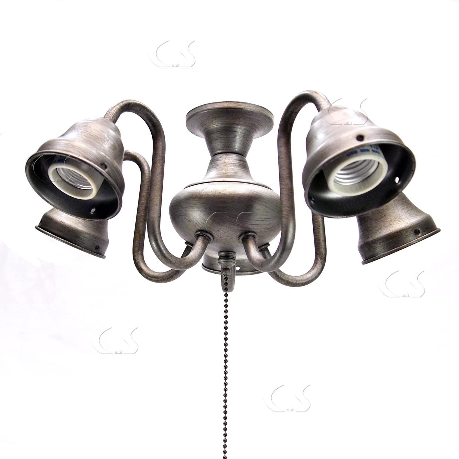 Ceiling Fan 5 Light Chandelier Kit Golden Nickel Quorum 2530 042 354 02