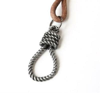 NEW Leather Men/'s Rope Metal Pendant Surfer Necklace Choker Adjustable Jewelry