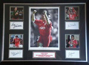 5-Signed-Liverpool-Legends-Photo-Display-Framed-Robbie-Fowler-Ian-Rush-AFTAL