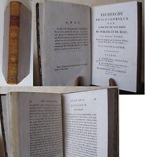 EDMUND BURKE RECHERCHE PHILOSOPHIQUE ORIGINE IDEES SUBLIME BEAU 1803