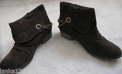 Sizes 3 4 5 6 NEW New Look Suedette Brown Cowboy Ankle Boots 7 or 8 £26.99