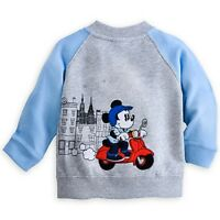 Disney Store Mickey Mouse Soft Knit Raglan Jacket For Baby 12/18 Mos