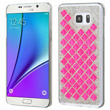 NEW FOR SAMSUNG Galaxy Note 5 CLEAR PINK DIAMOND BLING DESIRE HARD COVER CASE