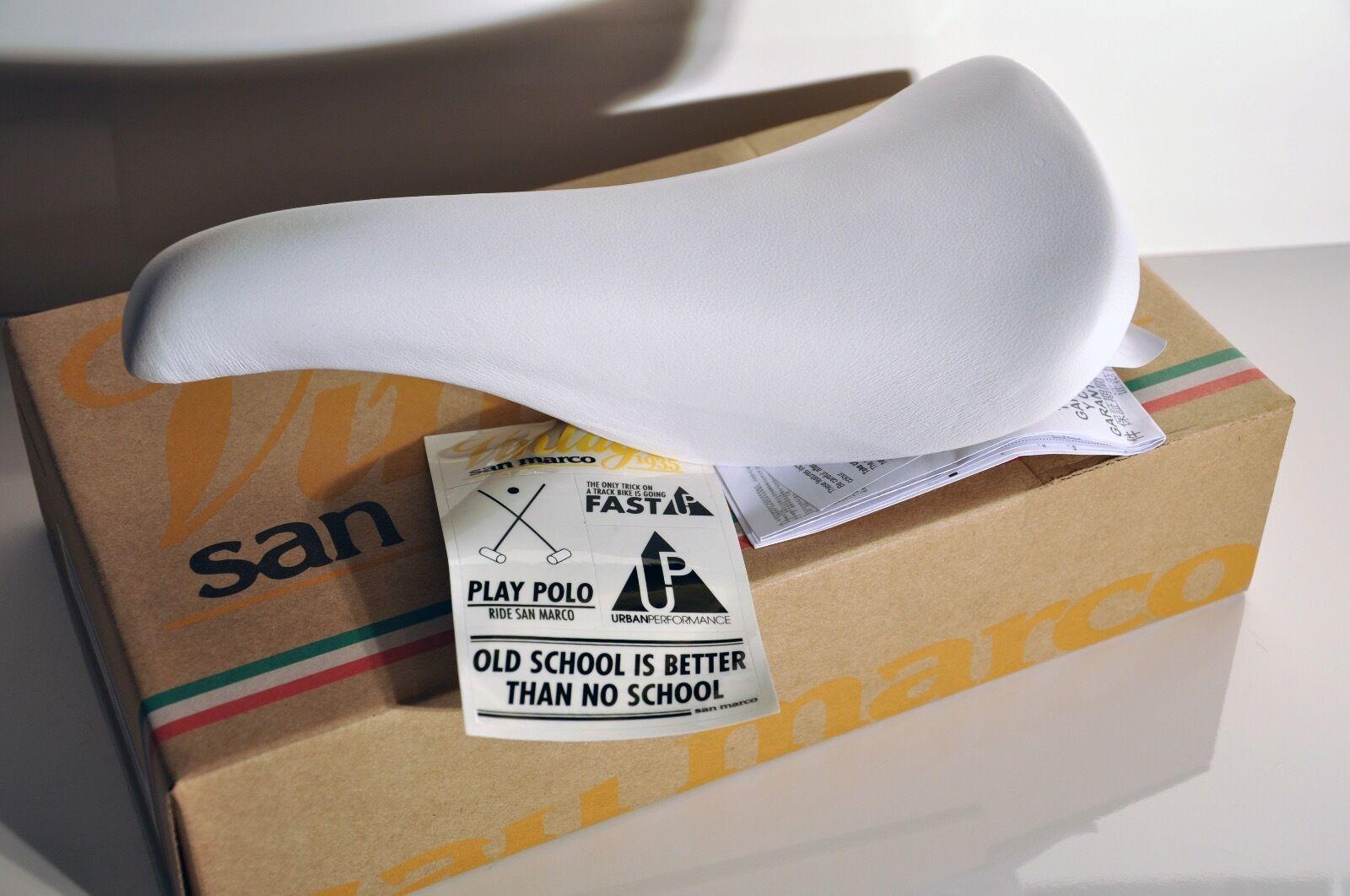 Vintage Selle San Marco Concor Profil Sillin fixie blancoo De Cuero Italia
