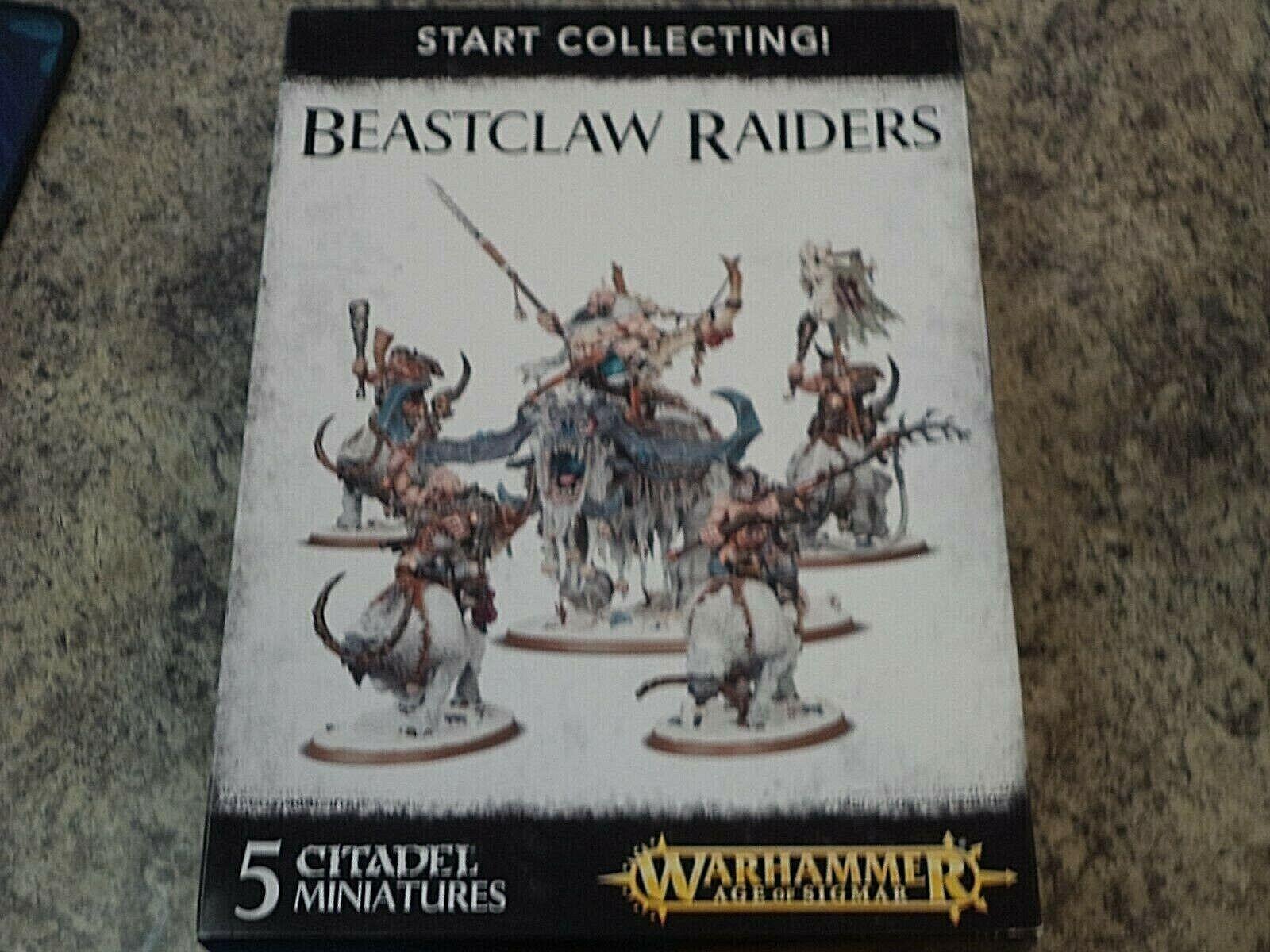 Estrellat Collecting Beastclaw Raiders Warhammer Age of  Sigmar fantasycc modellololos nuovo   presa di fabbrica