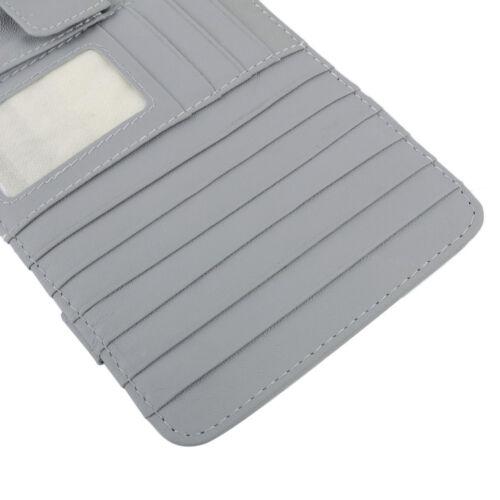 Sonnenblende Organizer CD Halter Multifunktion Tasche Karten Brillenhalter Grau