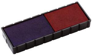 blau//rot COLOP Ersatzstempelkissen E//12//2 Doppelpack