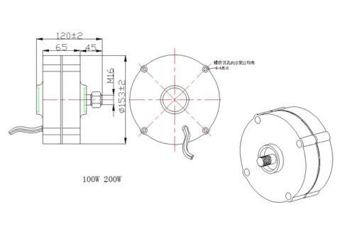 12//24V 100~400W High Efficiency Wind Turbine Permanent Magnet Generator Windmill