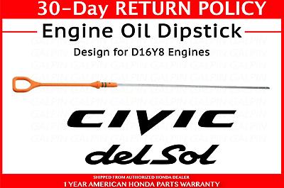Oil Dipstick Genuine G251XD for Honda Civic del Sol 1995 1993 1994 1992