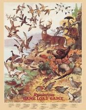 Remington Game Load TIN SIGN Metal Vintage Hunting Cabin Lodge Firearms Poster