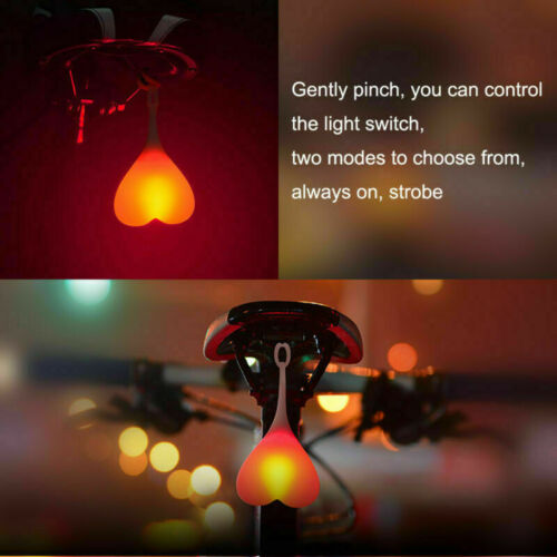 Silicone Bike Back Rear Tail Light Bicycle Cycling LED Light Heart Ball Egg Lamp