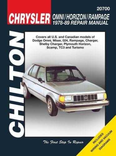 Repair Manual-Base Chilton 20700
