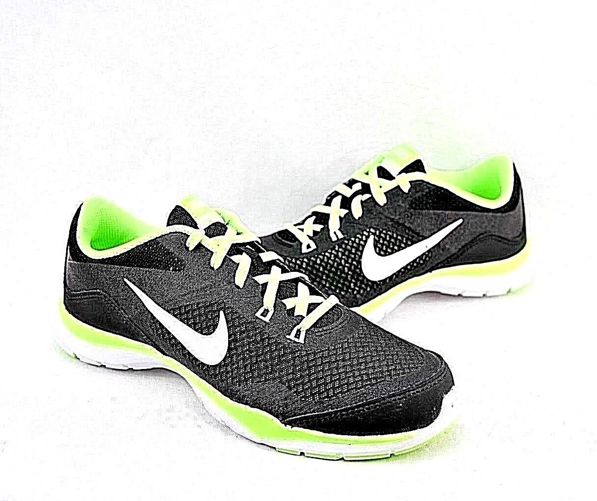 Women's NIKE FLEX TRAINER 5 724858-016 BLACK BLACK BLACK WHITE-GHOST GREEN  wmn's SZ  69.5 b522b4