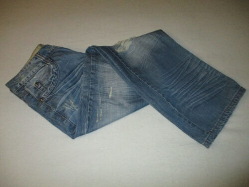 Perfectly X Fly Button Taille Do Bleu Nice Distressed 32 Denim Jeans Mj0126 33 zRwx5